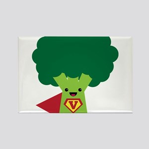 Super Brocoli Rectangle Magnet