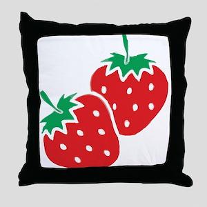 Sweet Strawberries Throw Pillow