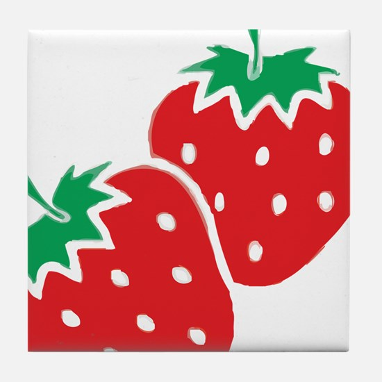 Sweet Strawberries Tile Coaster