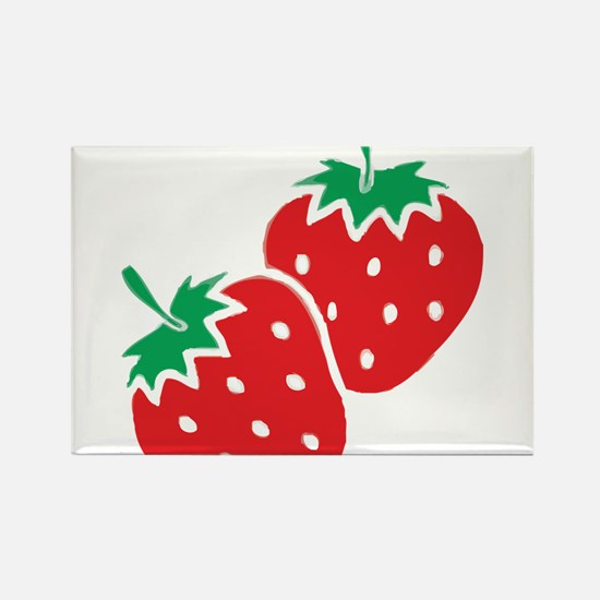 Sweet Strawberries Rectangle Magnet