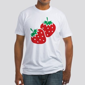 Sweet Strawberries Fitted T-Shirt