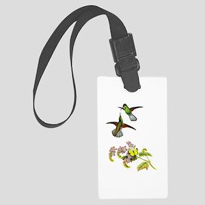 Hummingbirds Large Luggage Tag