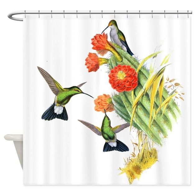 Hummingbird Kitchen Curtains: Hummingbirds Shower Curtain By BirdsandFlowers