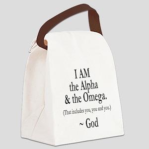 Alpha & Omega Canvas Lunch Bag