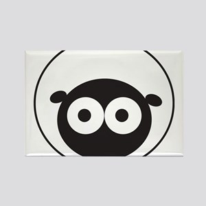 Round Sheep Rectangle Magnet