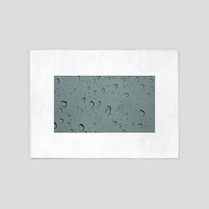 Raindrops on A Windshield 5'x7'Area Rug