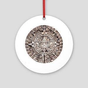 Mayan End of the World 2012 Calendar Ornament (Rou