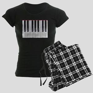 Piano Keyboard 5 Women's Dark Pajamas