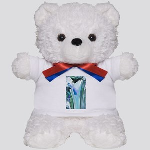 Big Blue Flower Teddy Bear
