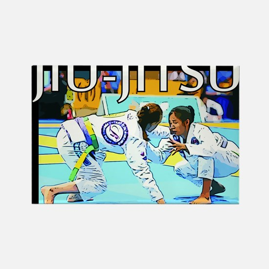 Jiu-Jitsu BJJ Girls Rectangle Magnet
