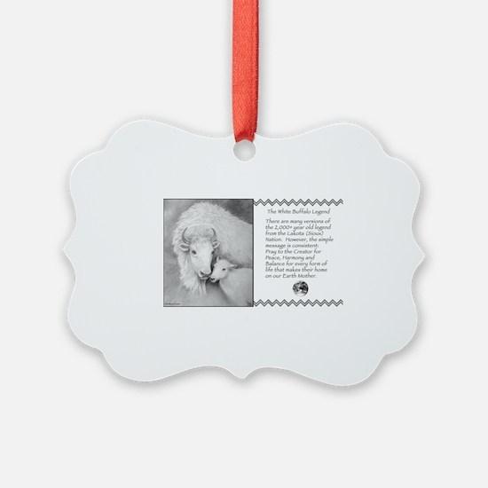 White Buffalo Legend ~ Ornament
