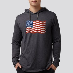 sequin american flag Mens Hooded Shirt