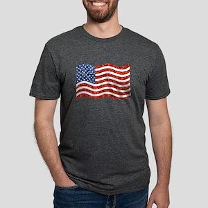 sequin american flag Mens Tri-blend T-Shirt