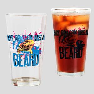 Bearded Dragon - My Dragon Has A Beard Drinking Gl