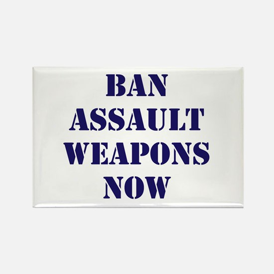Ban Assault Weapons Now Rectangle Magnet