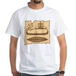 Viking Longship Diagrams T-Shirt (White)