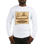 Viking Longship Diagrams Long Sleeve Tee