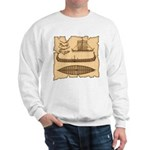 Viking Longship Diagrams Sweatshirt