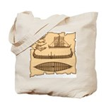 Viking Longship Diagrams Tote Bag