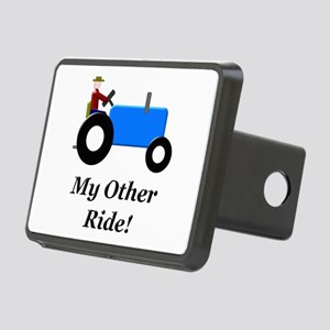 My Other Ride Blue Rectangular Hitch Cover