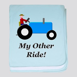 My Other Ride Blue baby blanket