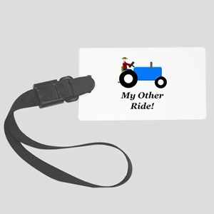 My Other Ride Blue Large Luggage Tag