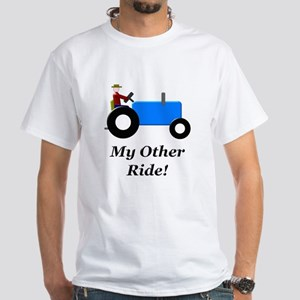 My Other Ride Blue White T-Shirt