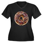 Doughnut Lovers Women's Plus Size V-Neck Dark T-Sh