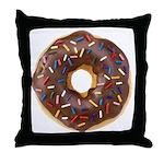 Doughnut Lovers Throw Pillow