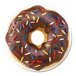 Doughnut Lovers Round Car Magnet