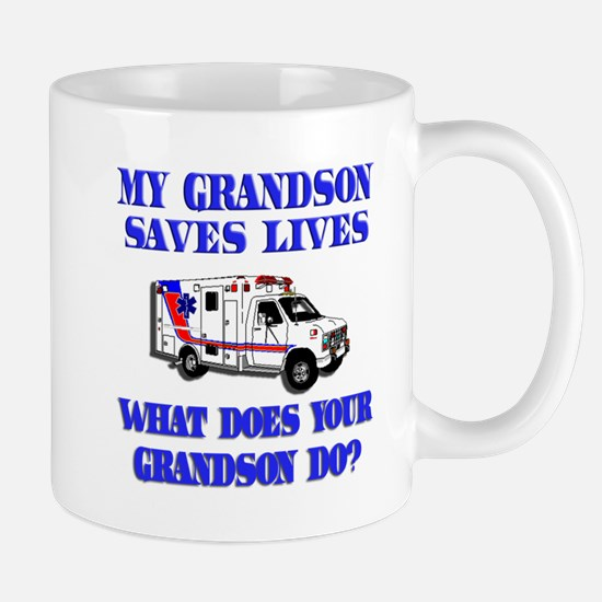 saveslivesambulanceambulancegrandson Mugs