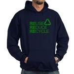 Reduce Reuse Reycle Hoodie (dark)