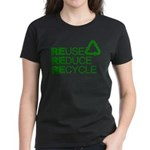 Reduce Reuse Reycle Women's Dark T-Shirt