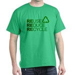 Reduce Reuse Reycle Dark T-Shirt
