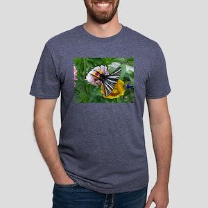 Zebra Swallowtail + Japanese Beetle Mens Tri-blend