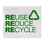 Reduce Reuse Reycle Throw Blanket