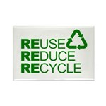 Reduce Reuse Reycle Rectangle Magnet (10 pack)