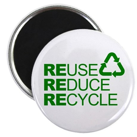 "Reduce Reuse Reycle 2.25"" Magnet (10 pack)"