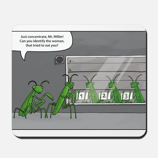 mantis identification Mousepad