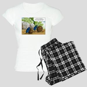 dung beetles cartoon Women's Light Pajamas