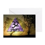 32 Year Birthday Greeting Card - One Day at a Time
