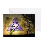 23 Year Birthday Greeting Card - One Day at a Time
