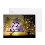 22 Year Birthday Greeting Card - One Day at a Time
