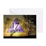 17 Year Birthday Greeting Card - One Day at a Time