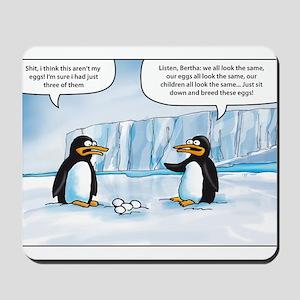 penguin cartoon Mousepad