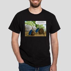 dung beetles cartoon Dark T-Shirt