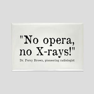 No opera, no X-rays! Rectangle Magnet