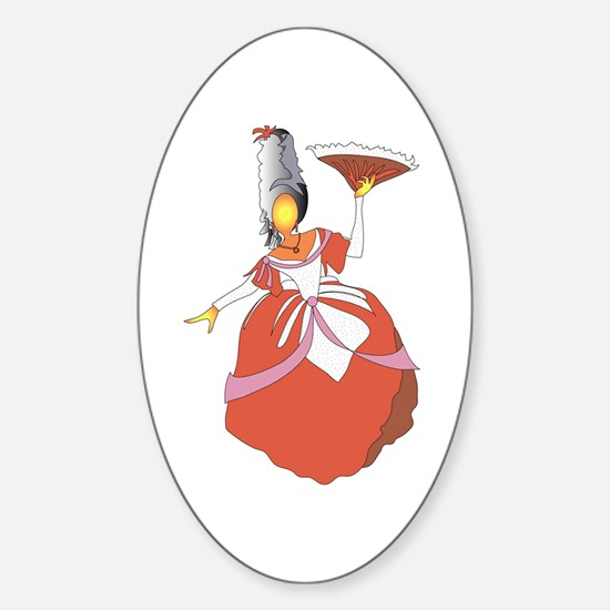 The Holiday Victorian Sticker (Oval)