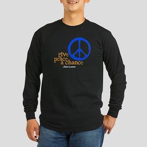 givechance_blue_dark Long Sleeve T-Shirt