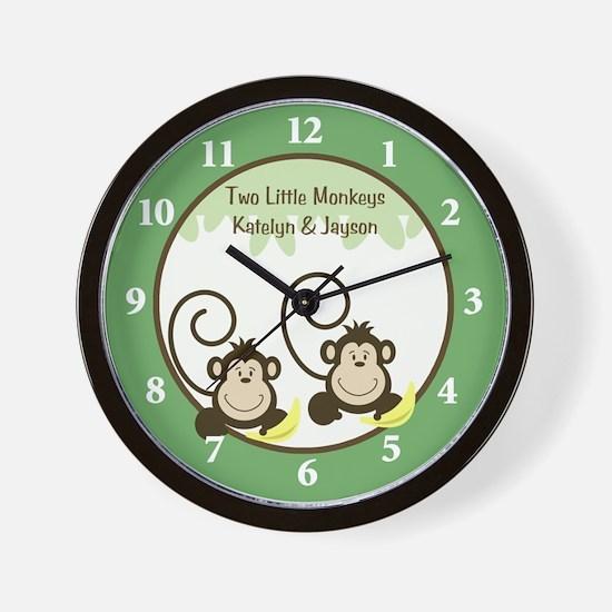 Two Little Monkeys / Silly Monkeys Wall Clock